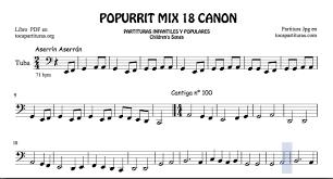 18 of 30 popurrit mix sheet for tuba aserrin aserran cantiga