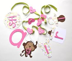 Baby Shower Decorations Monkey Baby Shower Decorations It U0027s A Banner In Pink