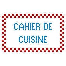 cahier cuisine créatrices broderie machine etiquettes recettes