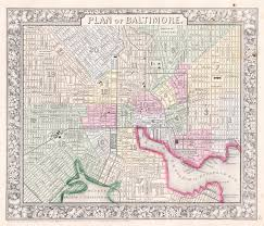 maryland map free file 1864 mitchell map of baltimore maryland geographicus