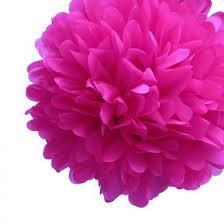 Pom Pom Decorations Ez Fluff 16 U0027 U0027 Fuchsia Pink Tissue Paper Pom Poms Flowers