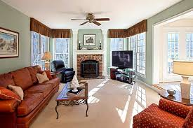 colonial living rooms living room decorating ideas with red brick fireplace architecture