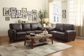 Bonded Leather Sofa Homelegance 2pcs Rubin Dark Brown Bonded Leather Match Sofa Set