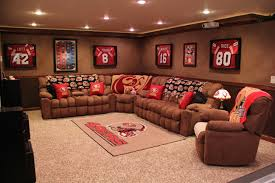 decor u0026 tips amusing mancave basement with recliner and l shape