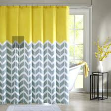 Grey And Yellow Shower Curtains Grey And Yellow Shower Curtain Black White Chevron Vandysafe