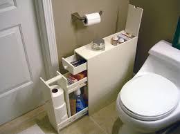slimline organiser bathroom cupboard cabinet white wooden toilet