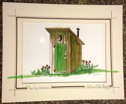 Outhouse Bathroom Ideas The Old Outhouse Art Print Ready For An 8 X 10 Frame For Your
