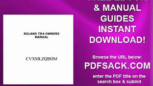 roland td4 owners manual video dailymotion