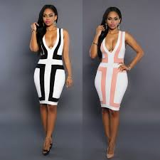bodycon dresses strap patchwork women night clubbing dress