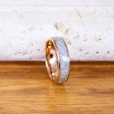 free wedding band free shipping custom engraved 6mm gold tungsten meteorite