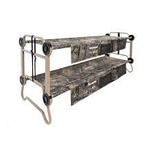 Portable Bunk Beds Large O Bunk Portable Bunk Bed With Organizers In Realtree