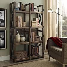Grey Room Divider Wildwood Rustic Grey Bookcase Room Divider