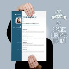 2 Page Resume Sample by Europe Cv Format Resume Template 2 Page Cv A4 Letter Size By
