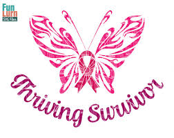 breast cancer awareness svg thriving survivor ribbon butterfly