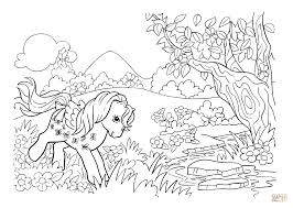 pony in the forest from my little pony coloring page my little
