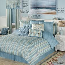 Starfish Comforter Set Clearwater Coastal Striped Comforter Bedding