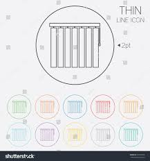 Circle Window Blinds Louvers Vertical Sign Icon Window Blinds Stock Vector 223339258