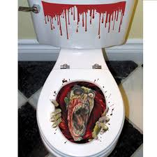 Zombie Themed Halloween Party Ideas by Cheap Halloween Zombie Toilet Grabber Decoration At Go4costumescom