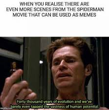 Pictures Used For Memes - when you realize there are even more scenes from the spider man
