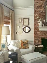 Cottage Style Living Rooms by A Simple Collage Of The Homeowners U0027 Favorite Keepsakes Creates A