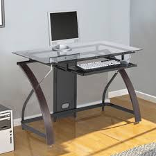 Computer Desk Modern by Atrium Metal And Glass L Shaped Computer Desk Multiple Colors
