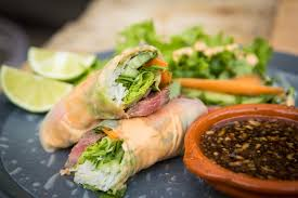 sriracha mayo steak spring rolls with sriracha mayo and soy lime dipping sauce