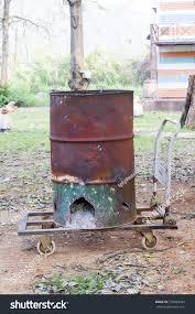 diy homemade backyard incinerator good idea stock photo 270080933