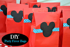 mickey mouse favor bags diy mickey mouse birthday party ideas mickey mouse favors