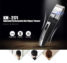 kemei km 2171 adjustable rechargeable hair trimmer clipper