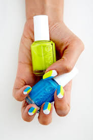 diy essie beach day neon nails the trendy nail