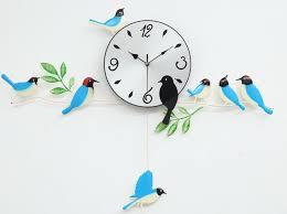 Birds Home Decor A060 Wall Clock Clocks Painting Birds Home Decor Decoration New
