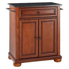 black granite kitchen island alexandria solid black granite top portable kitchen island wood
