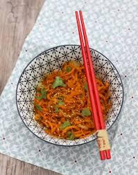 cuisiner le gingembre spaghetti de carottes au gingembre régal