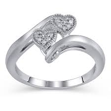 sterling silver engagement rings walmart h sterling silver accent promise ring