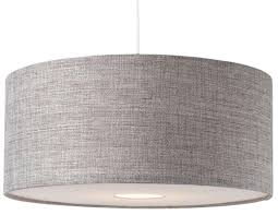 Drum Shade Pendant Light Fixture Bnwt Modern Grey Textured Large Drum Diffuser Ceiling Light Shade