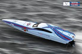 martini livery bmw racing boat is the very definition of gorgeous