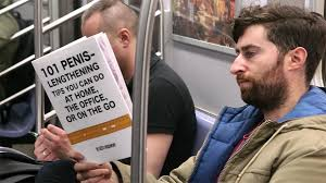 Guy Reading Book Meme - guy takes fake book covers onto subway to see how people react