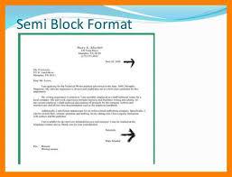 Semi Block Letter Format Business Letter 6 Semi Block Letter Simple Cv Formate