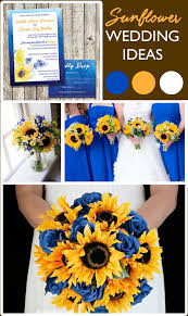 sunflower wedding ideas best 25 blue sunflower wedding ideas on sunflower