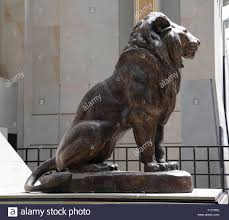 barye lion sculpture seated lion lion assis 1847 antoine louis barye 1795 1875 stock