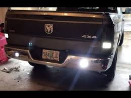 led bumper backup lights installing auxiliary reverse lights on my dodge ram youtube