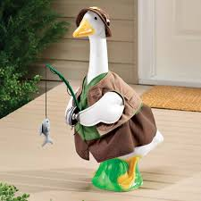 fisherman goose lawn goose kimball fred