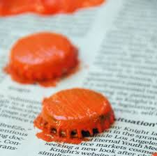 easy bottle cap pumpkin craft suburbia unwrapped