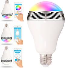 bluetooth music light bulb e27 3w app wireless bluetooth 4 0 smart led light bulb music speaker