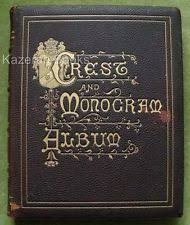 monogram photo album crest and monogram album id 58970 ebay crest and monogram