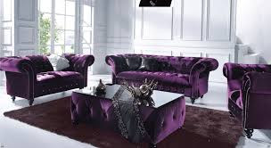 Chesterfield 3 Seater Sofa by Victoria 3 Seater Chesterfield Boutique Crush Purple Velvet Sofa