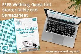 Wedding Invite Spreadsheet Wedding Guest List Tips Own Your Wedding