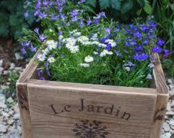 Indoor Herb Pots Window Box - herb planter wooden planter window box herb garden herbs