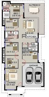 5 bed room house plan narrow block design australian houses