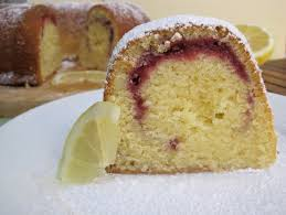 favorite raspberry swirl lemon pound cake